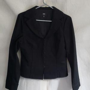 Black cotton/spandex blazer jacket mossimo